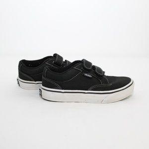 Unisex Vans Kids Velcro Canvas Skate Shoes 13